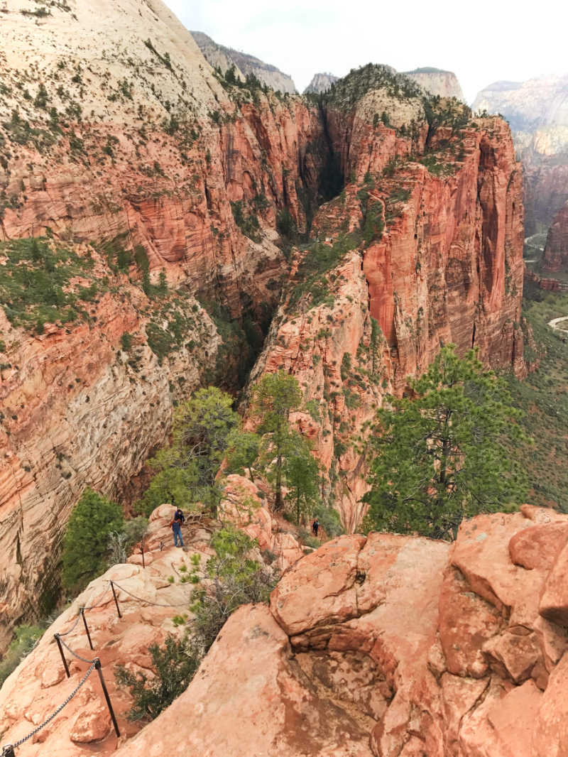Angels Landing, one of the most famous and dangerous Zion day hikes.