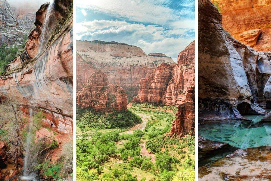 The 6 best Zion Day Hikes! Spend a day exploring Zion National Park, Utah on foot. These 6 hikes cover every level of difficulty and will show you the best that Zion National Park has to offer!