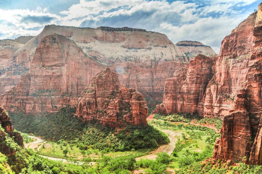 Just a jaw-dropping view from the Hidden Canyon Hike, one of the best Zion day hikes.