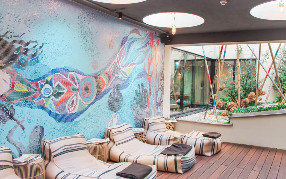 Welcome to the Mermaid Cave, the stunning spa and gym located in the basement of 25 Hours Hotel in Vienna!