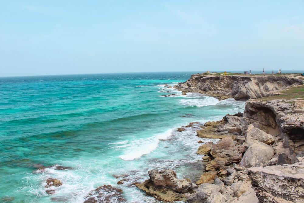 Punta Sur coastline in Isla Mujeres, Mexico
