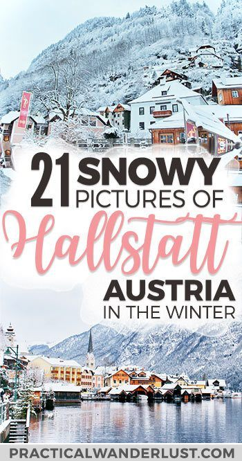 Hallstatt, Austria is a beautiful little village and UNESCO world heritage site nestled in the Austrian Alps. Hallstatt in the winter is a winter wonderland - a fairytale Christmas village come to life. Here are 21 snowy photos to fuel your winter wanderlust! Hallstatt Austria things to do #Europe #Travel