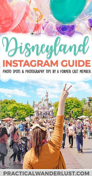 The best Disneyland photography tips, plus creative (& Instagrammable) Disneyland picture ideas to help you capture your next trip! Created by a former Cast Member. #Disney #Disneyland #California