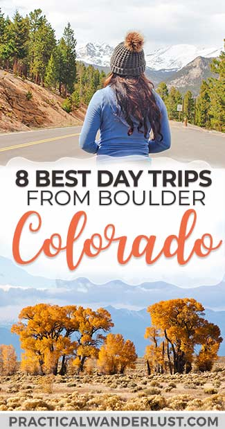 Colorado, USA is an amazing travel destination, full of outdoor adventure, Wild West history, stunning mountains and scenery, and yummy craft beer. Discover the best day trips from Boulder, Colorado (just 30 minutes from Denver) and start planning your Colorado vacation! #Travel #Colorado