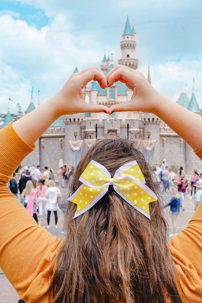 Disneyland, hair bow, love, and castles.
