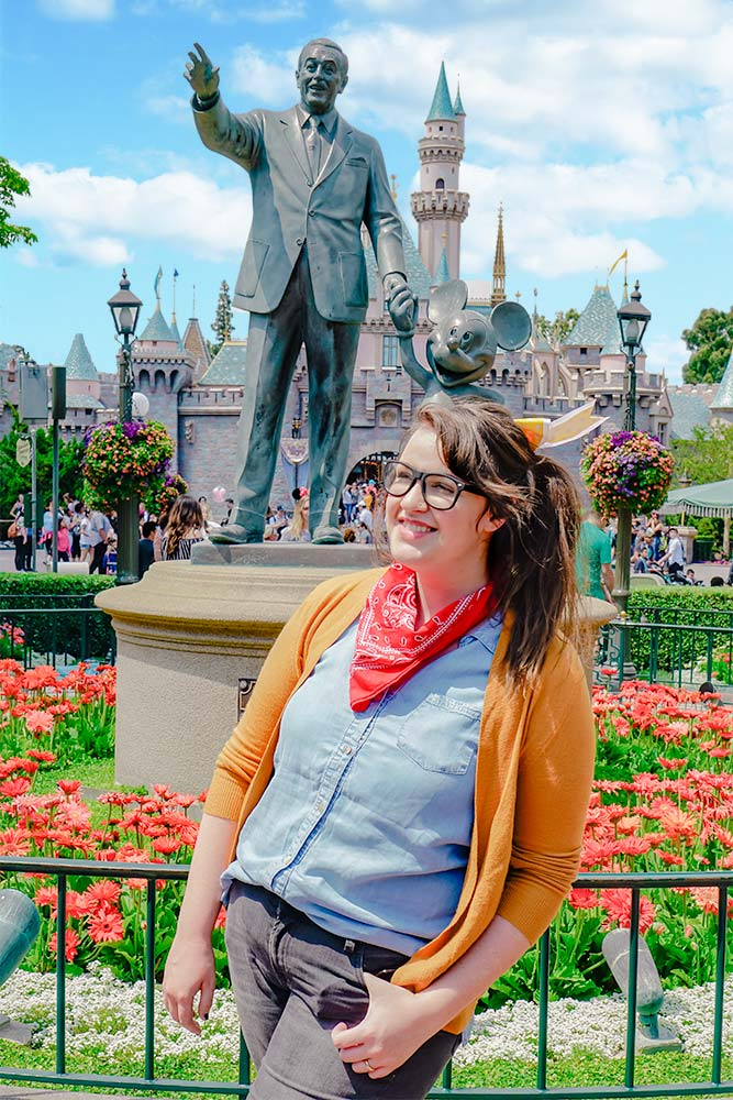 The Walt and Mickey Statue is one of the best Disneyland pictures to take and one of the most instagrammable places in Disneyland!