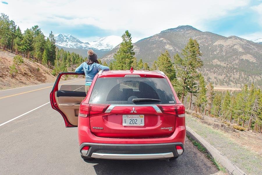 Exploring Rocky Mountain National Park in a 2018 Mitsubishi Outlander SEL.