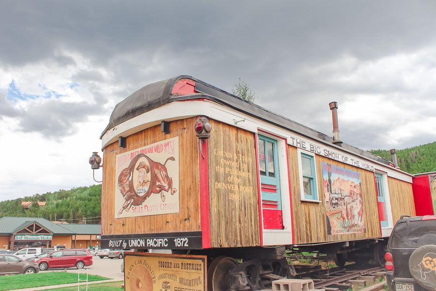 Train Cars Coffee in Nederland, Colorado.