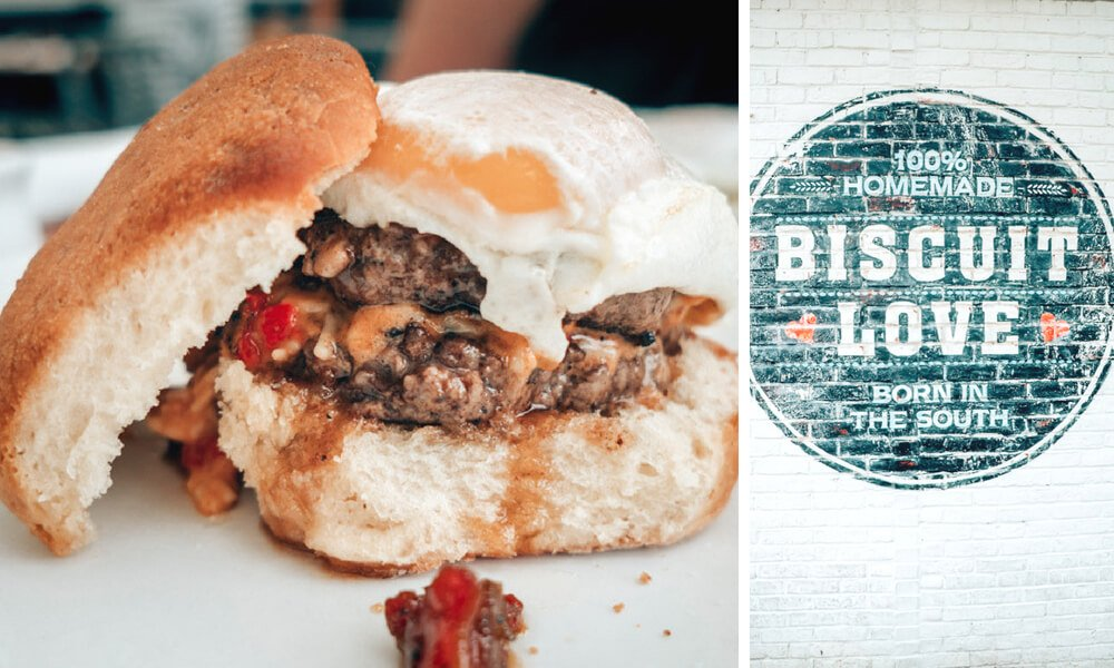 The Wash Park Biscuit from Biscuit Love in Nashville, Tennessee.