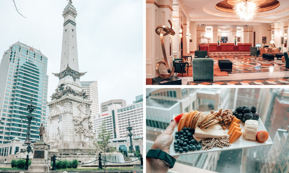 The luxurious Conrad Hotel in downtown Indianapolis, Indiana.