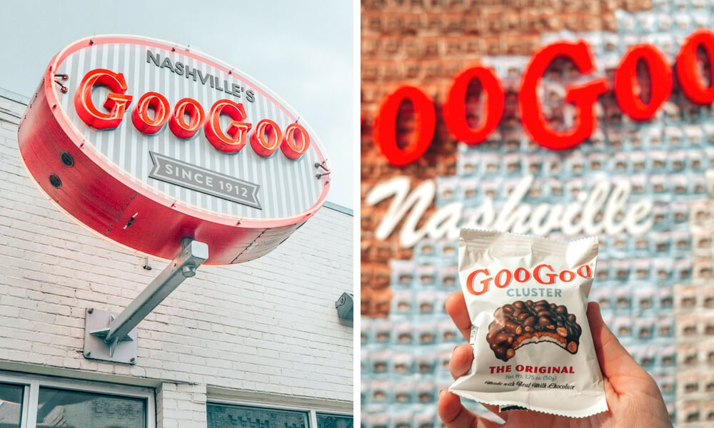 Goo Goo Shop and Dessert Bar in Nashville Tennessee was the first candy bar to ever combine multiple ingredients!