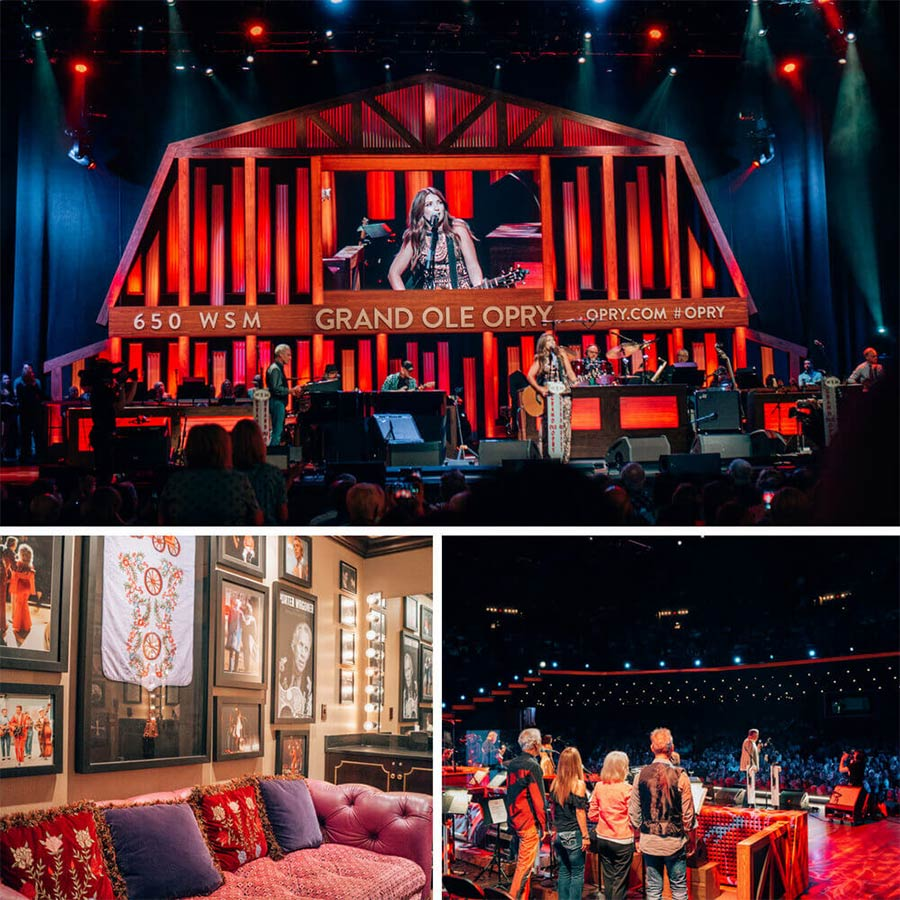 The Backstage Tour at the Grand Old Opry in Nashville, Tennessee.