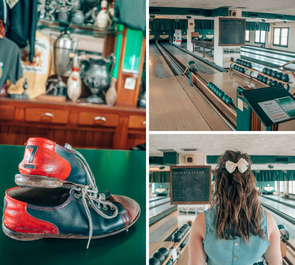 Duckpin Bowling at Fountain Square Theatre in Indianapolis, Indiana.