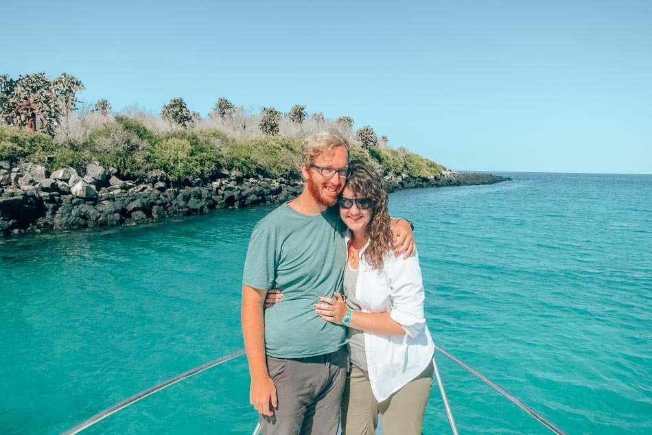 Lia and Jeremy Garcia in the Galapagos Islands, Ecuador