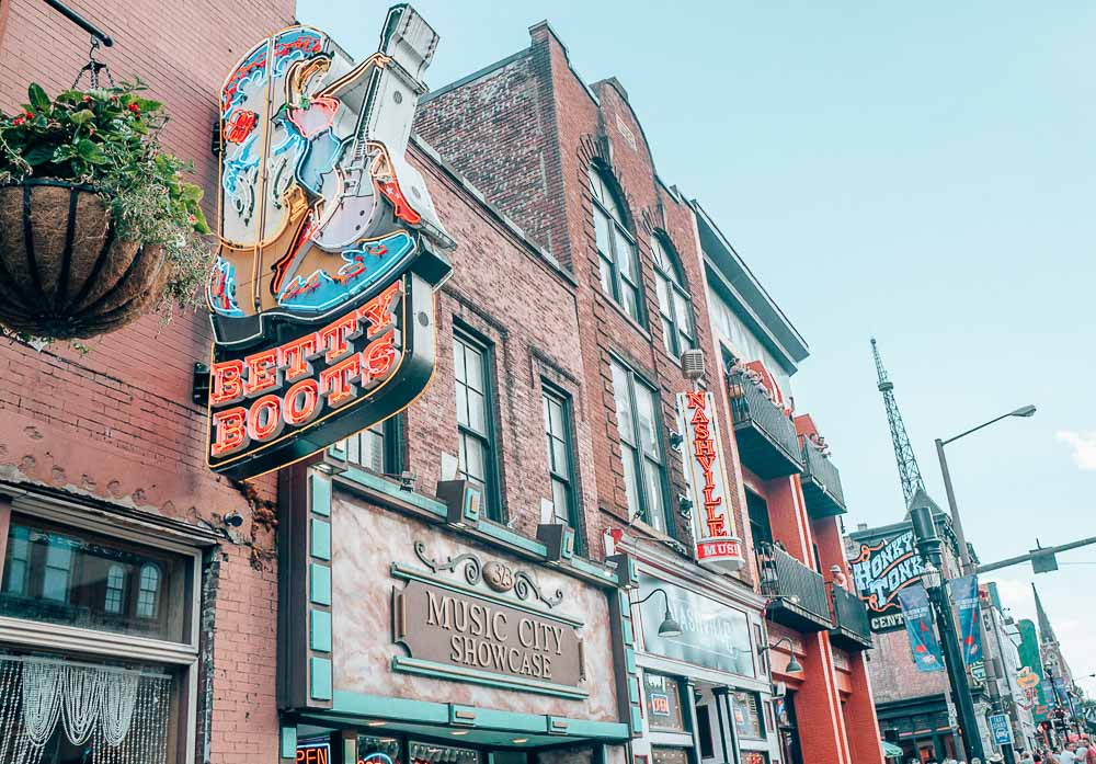 The Honky Tonk Highway is one of the coolest spots to visit in Nashville.