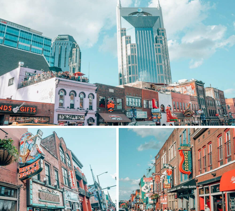 The Honky Tonk Highway in Music City, Nashville Tennessee.