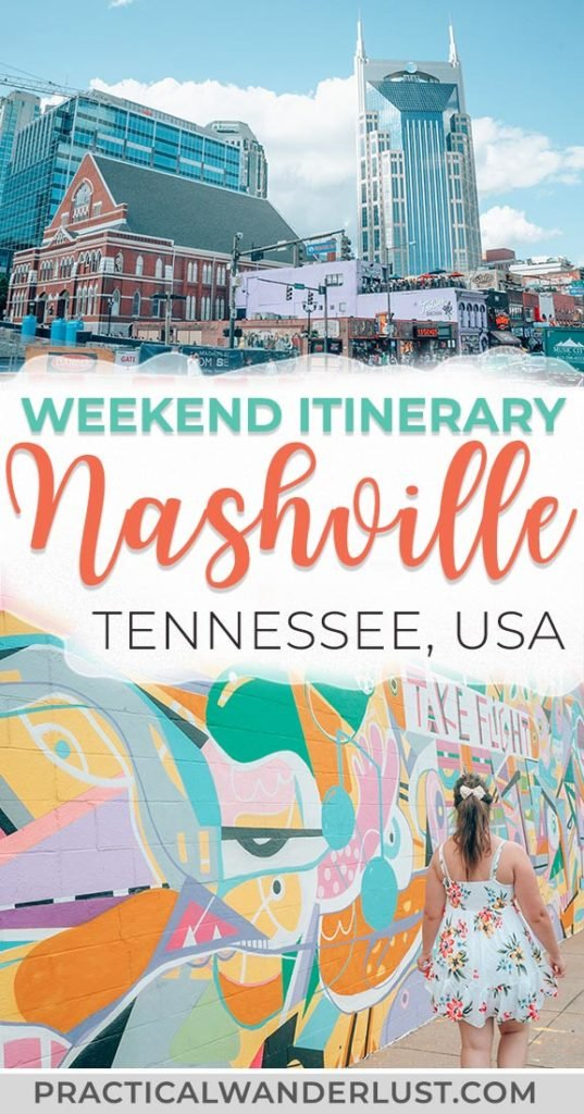 The perfect weekend itinerary to Nashville, Tennessee. Where to eat and drink, what to do, street art, attractions, the Grand Ole Opry, and more. Visit one of the coolest destinations in the USA and eat your way through Music City! #travel #Nashville