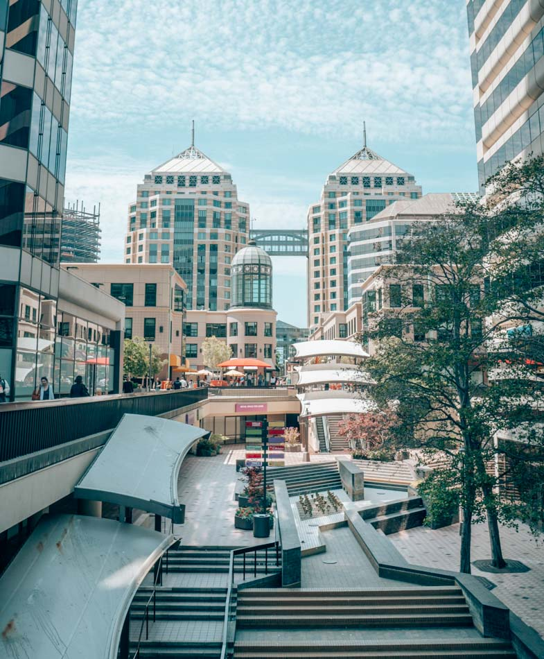 City Center in Oakland, California. Oakland is next to San Francisco, and you should visit on your next trip to the Bay Area!