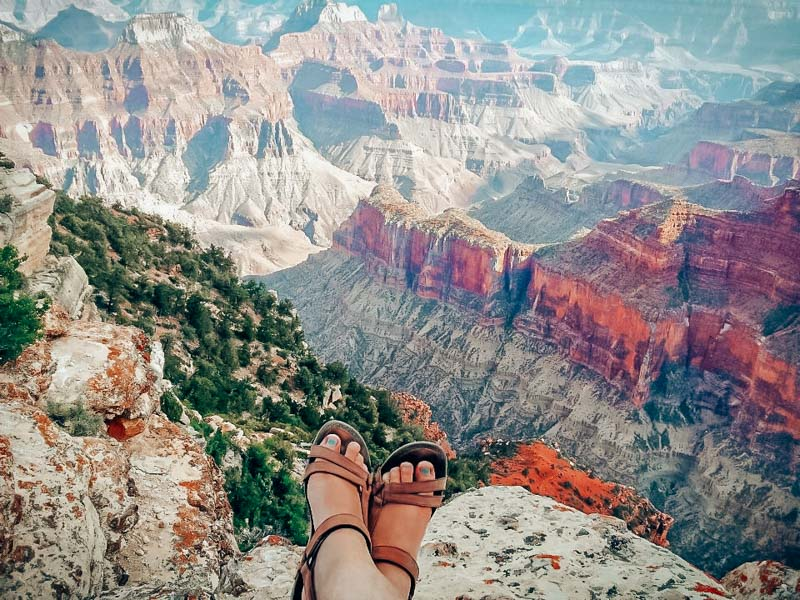 My very first pair of Teva Capri sandals on our very first trip together to the Grand Canyon!