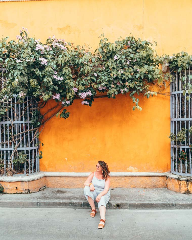 Wearing my Born Sandals in Cartagena, Colombia.