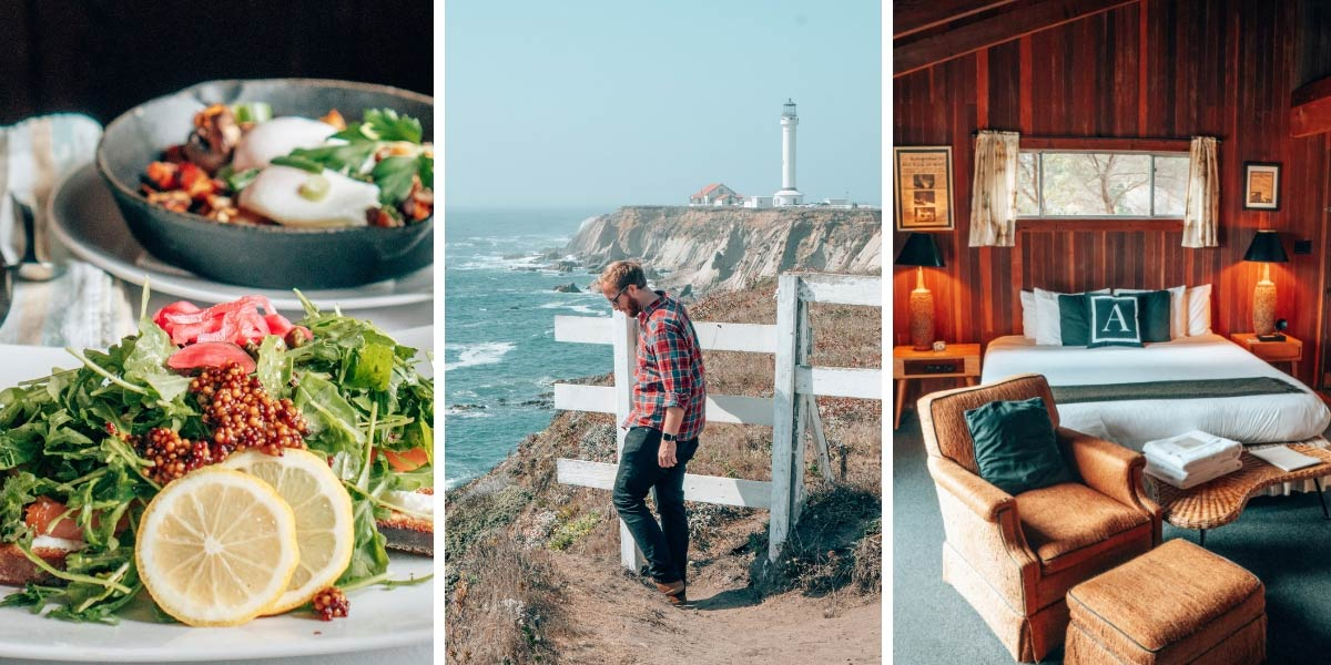 Mendocino, California is located a few hours north from San Francisco along the scenic Highway One/Pacific Coast Highway. It's the perfect destination for a weekend getaway!