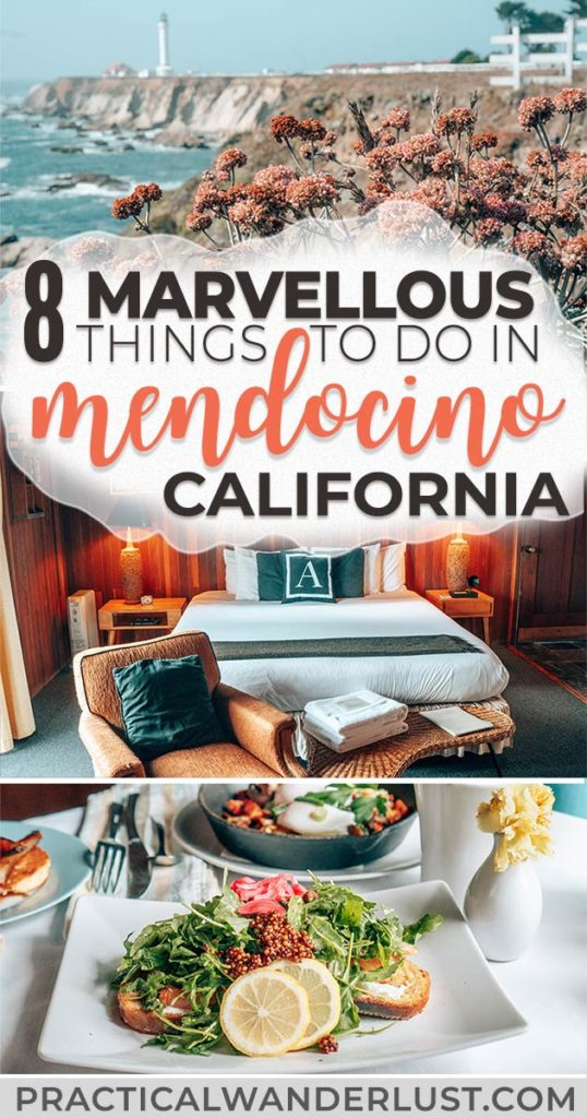 Mendocino, California is located a few hours north from San Francisco along the scenic Highway One/Pacific Coast Highway. It's the perfect travel destination for a weekend getaway or California road trip! #Travel #California #UnitedStates