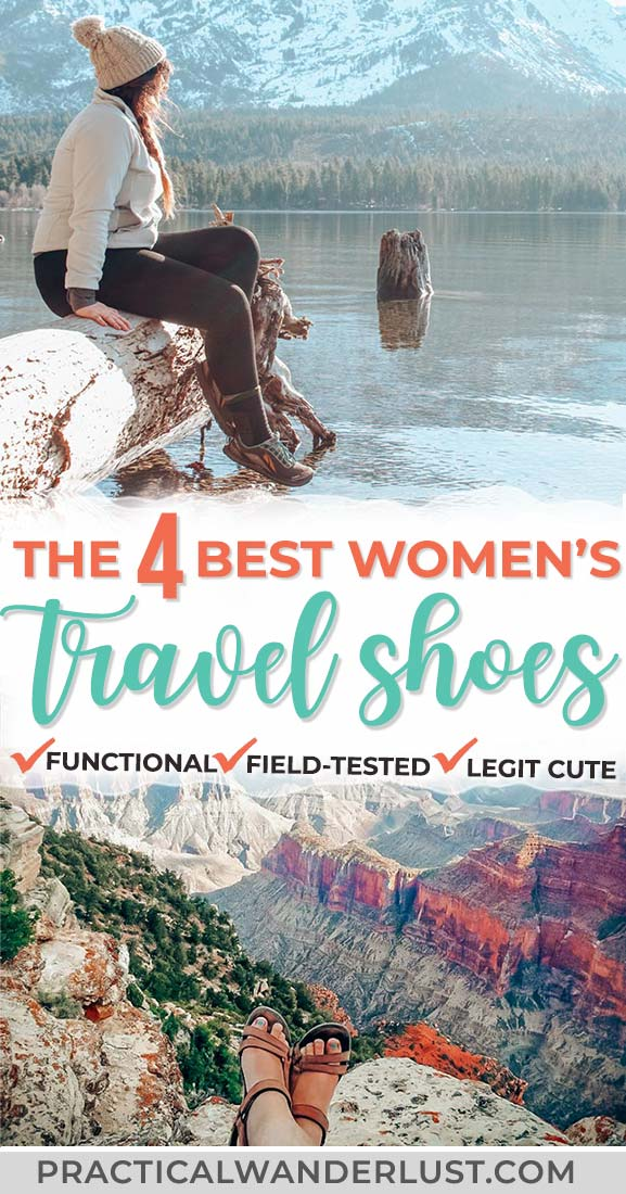 The best women's travel shoes to take your packing game to the next level! They're field-tested, functional, and legit cute. Bring them along on your next vacation! #TravelTrips #Travel