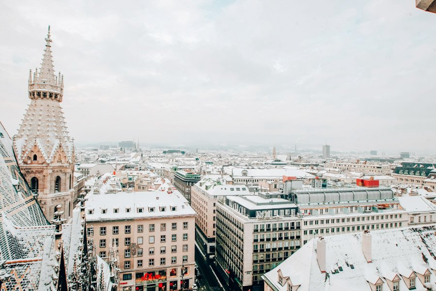 Vienna from above from the Stephensplatz tower.
