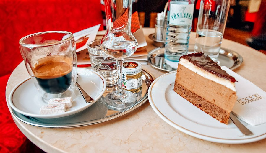 Coffee and Cake in Vienna, Austria