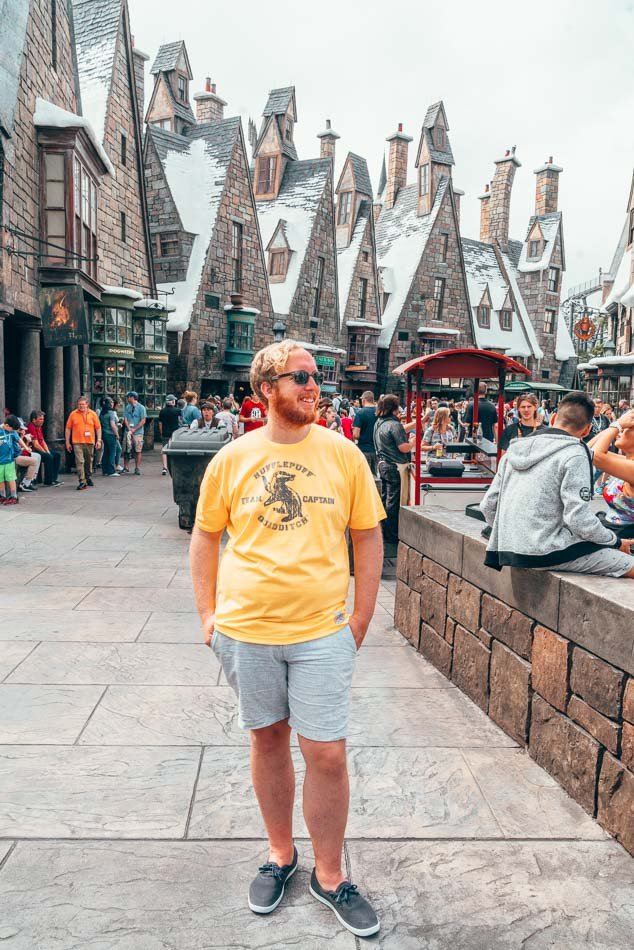Jeremy at Harry Potter in Universal Studios, Florida.