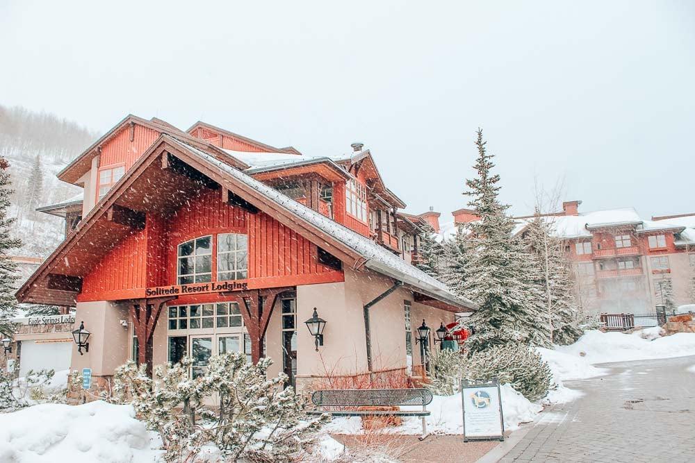 Solitude Ski Resort in a snow storm .