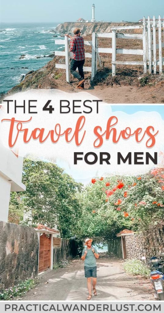 Finding travel shoes for men is a major challenge - but I've field tested FOUR awesome pairs. These shoes are each lightweight enough to pack easily, yet sturdy enough to handle absolutely anything - snow, rain, high-altitude hiking, cobblestones, mud, and everything in between. #traveltips #travelpacking