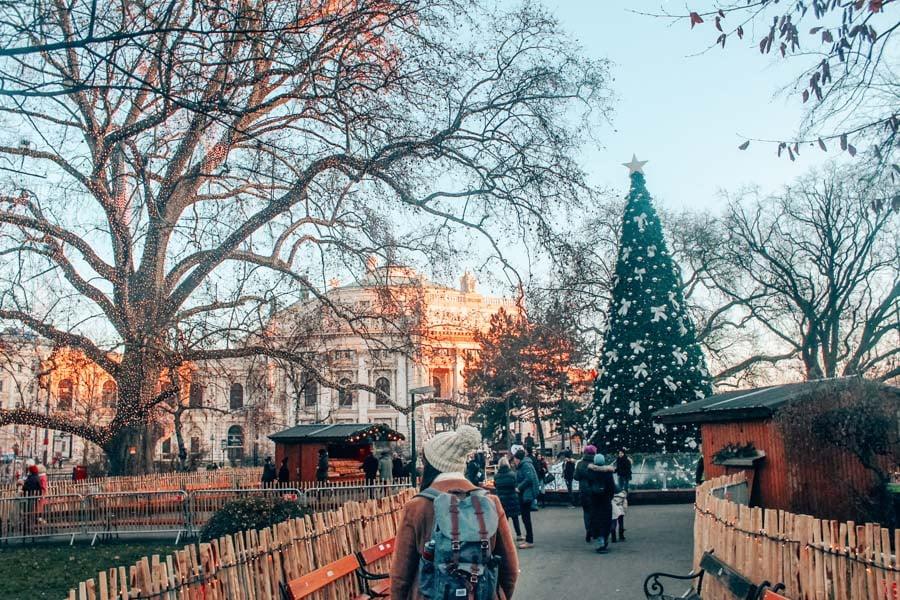 Exploring Vienna, Austria at Christmas.