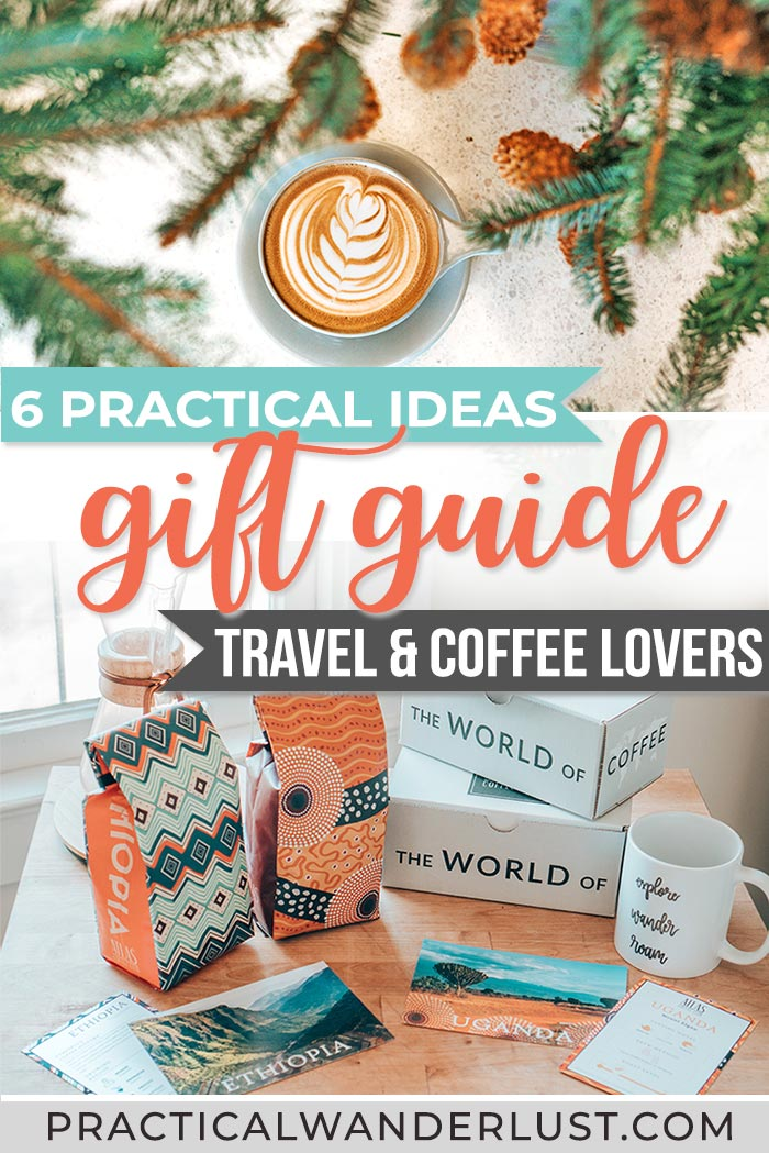 The perfect travel gift guide for coffee lovers: 6 Incredibly practical gift ideas for coffee snobs that travel! #Travel #GiftGuides #Christmas