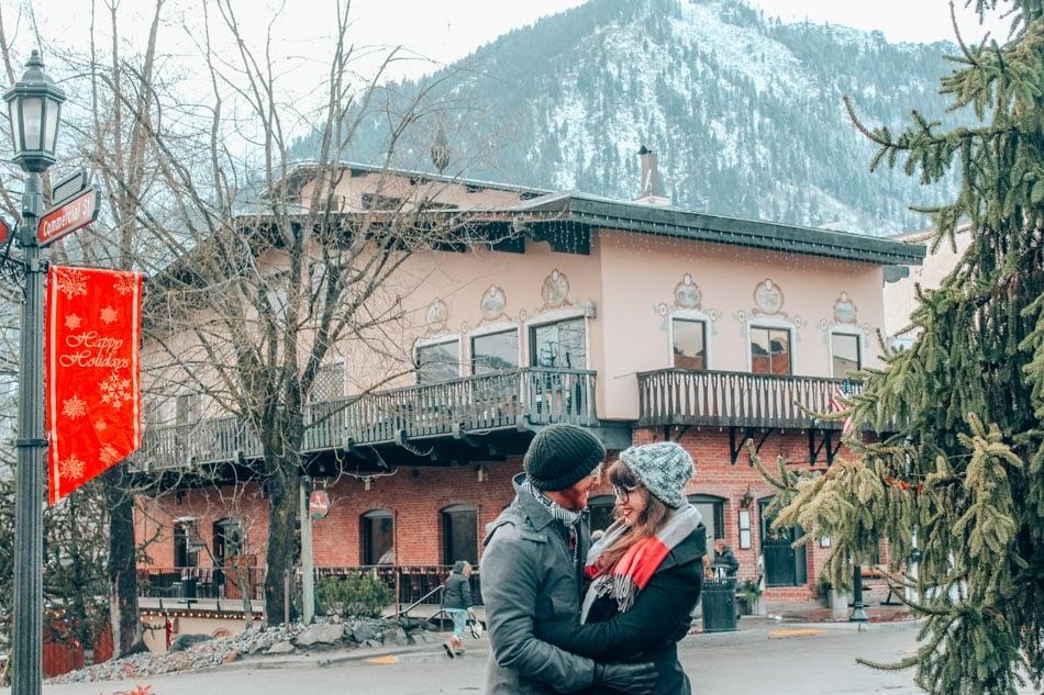 Lia and Jeremy in Leavenworth, Washington.