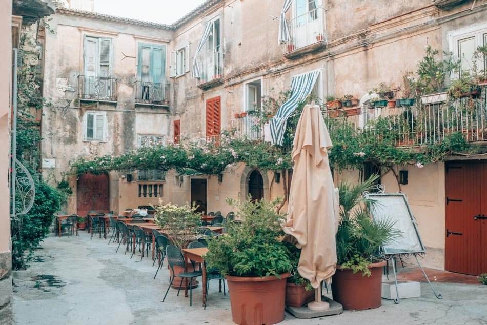 An insanely charming restaurant in Tropea, Italy.