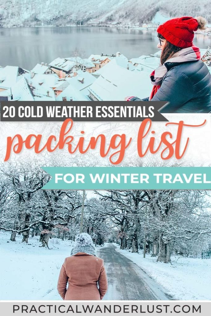 Stumped on what to pack for your winter vacation? Here are 25 tried & true essentials for cold weather travel. The perfect winter packing list. #wintertravel #packinglist