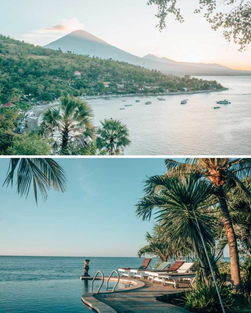 Be sure to include Amed on your Bali itinerary if you're a scuba diver! The tiny, quiet town is situated at the base of Mount Agung, and its black sand beaches are rarely crowded with tourists.