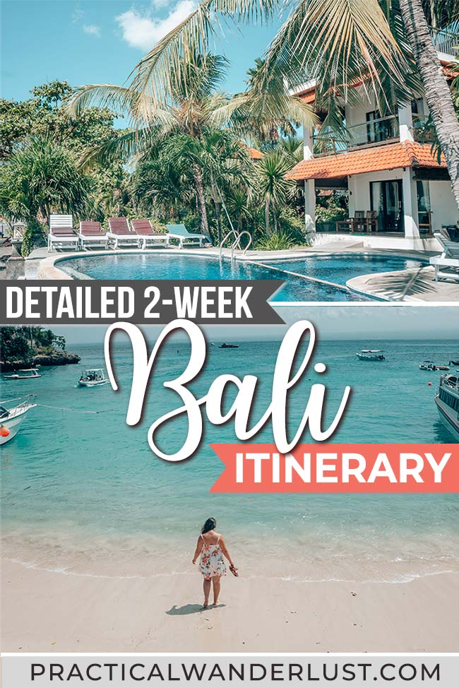 Rice paddies, monkeys, sandy beaches, volcanoes, temples: there is so much to see in Bali, Indonesia that it's difficult to fit everything into one itinerary! But we've done the work for you and created the perfect 2-week Bali itinerary, plus tons of Bali travel tips to help you plan your Bali travel itinerary. #Bali #BaliDestination #Indonesia #Travel