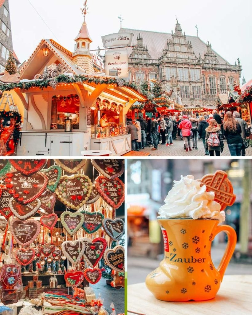 Bremen, Germany during the winter is full of Christmas Markets and holiday cheer. And yummy treads: pictured here are lebkuchen and eierpunsch.