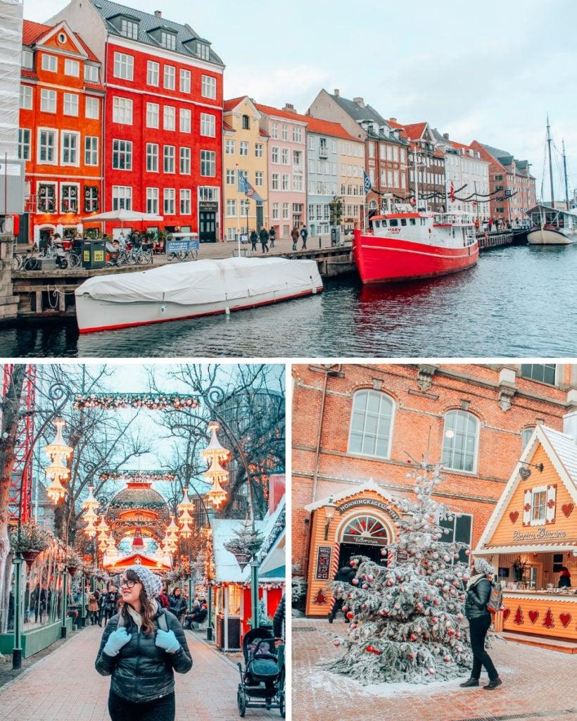 Nyhavn, Tivoli Gardens, and a Christmas Market in Copenhagen, Denmark.