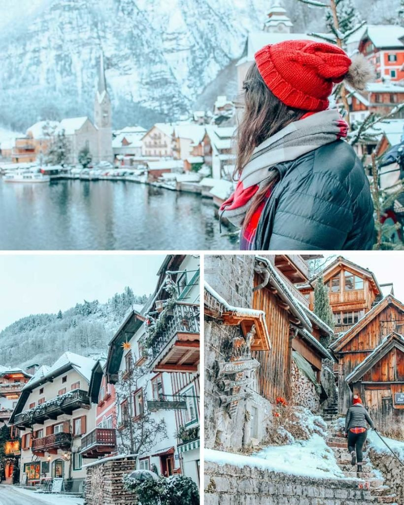 Hallstatt, Austria is a Christmas fairytale town and a must-include stop on your winter Europe itinerary.