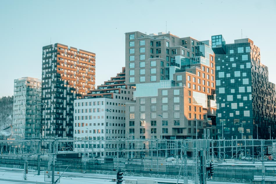 Half of the Barcode, a series of gorgeous buildings in Oslo, Norway that resemble an avant-garde, 3D barcode.