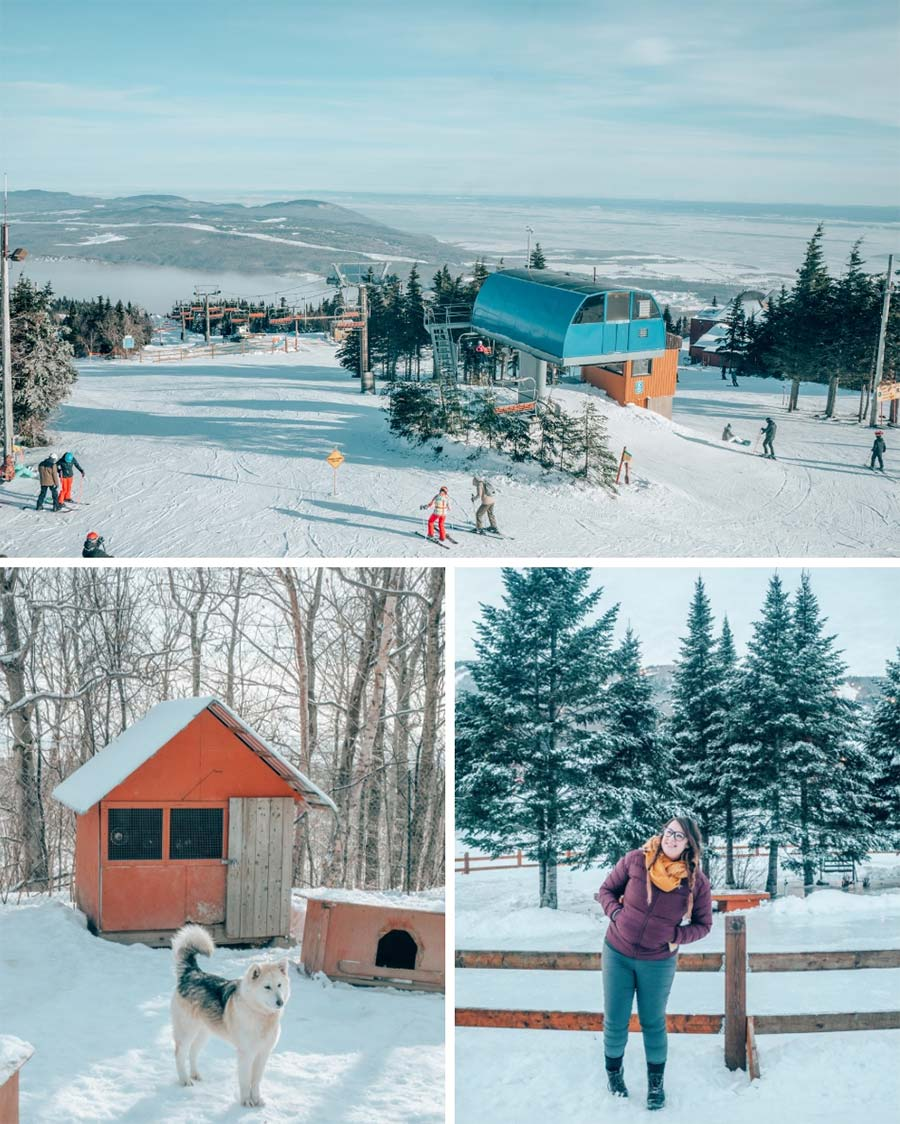 Views from Mont Saint Anne near Quebec City, in the winter.