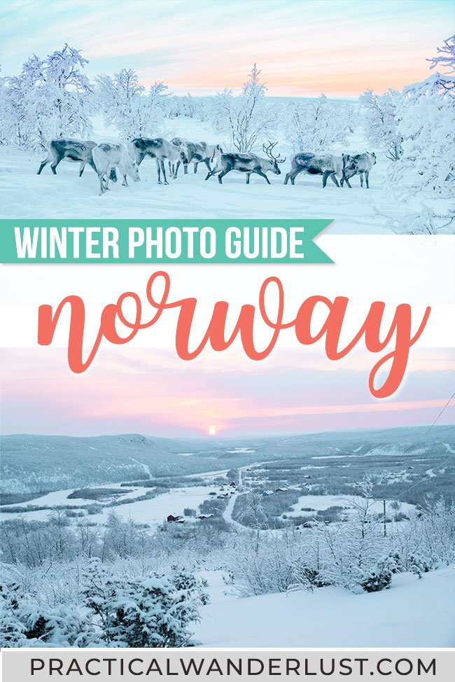 Northern Lights, reindeer, dogsledding, fjords, arctic tundra ... Norway is a winter dream. Here's a photo guide to Norway winter travel to inspire your wanderlust! #Norway #Winter #Travel