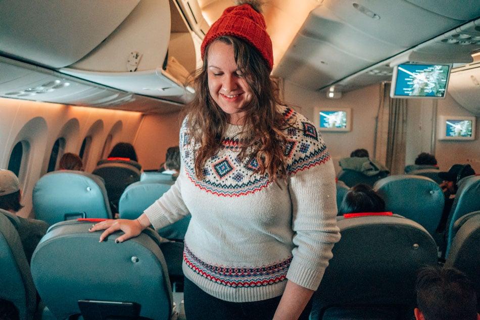 Norwegian Airlines Premium Class seats.