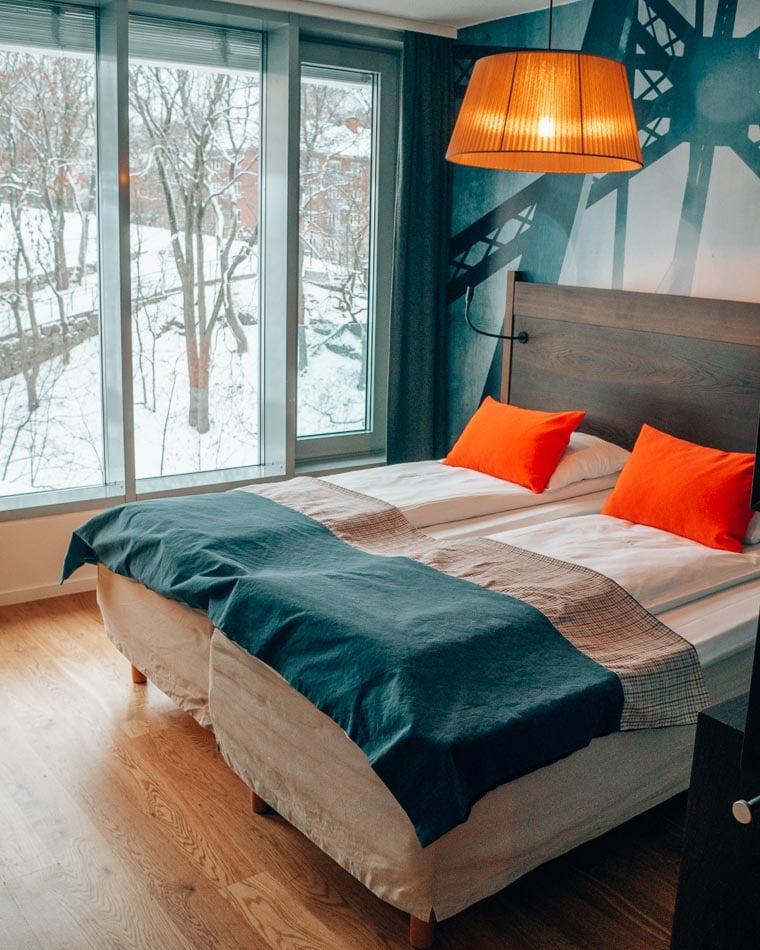 The charming Scandic Vulkan hotel in Oslo, Norway's Vulkan neighborhood.