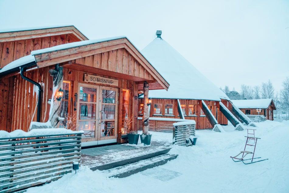 Sorrisniva Ice Hotel lodge and restaurant in Alta, Norway.