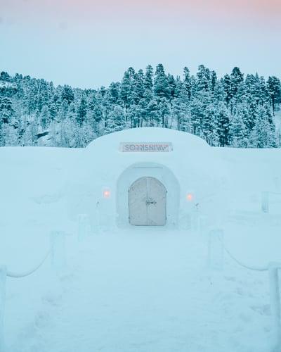 Sorrisniva Igloo Hotel in Alta, Norway.