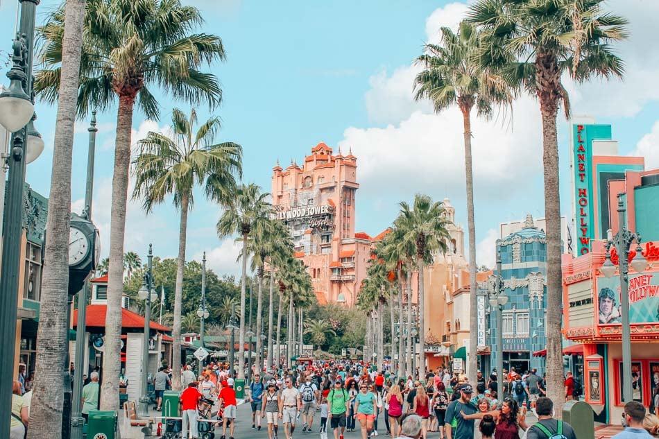 Tower of Terror in Disney World, Florida.